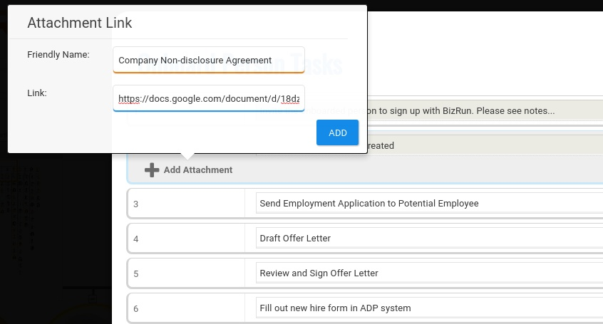 Onboarding Attachments